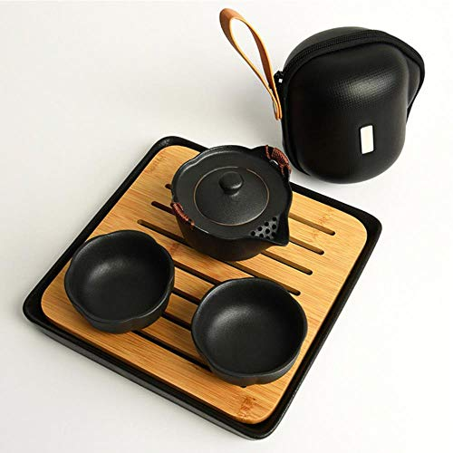 TOSISZ accessoires voor thuisdecoratie, een set Chinese Kungfu theepot van keramiek, personaliseerbaar, een set theekopje voor reizen buitenshuis, theefeest
