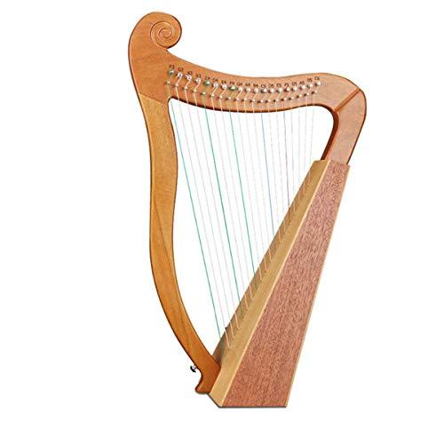 ZYUTTGY Hohe Qualität handgemachte Harfe 19 Saiten Musikinstrument Tragbare kleine Lyre Arpa leicht zu Lernen