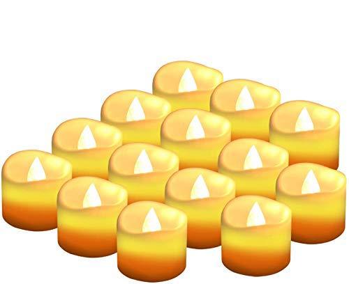 Led Kerzen Flackernde Flamme Teelicht,Led Flammenlose Kerzen Elektrische Tee Lampen Votivkerzen Warme Weiße 14Pack