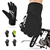 NICEWIN Winter Cycling Gloves Motorcycle Bike - Windproof Waterproof Mountain Road Bicycle Glove Men Women Padded Antiskid Touch Screen Design