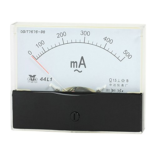 ANALOG Panel Amperemeter Messgerät AC 0–500 mA Messbereich 44L1