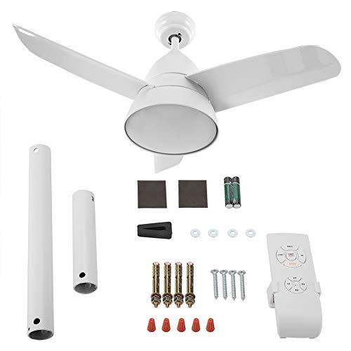 Puzzle Blanco Luces Cambiantes Y Control Remoto Ventilador De Techo De 3 Aspas Blanco Tonto Ventilador De Techo De 36'Frío