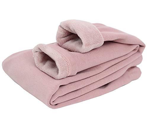 Shengwan Thermoleggings Mädchen Winter Warme Verdicken Leggings Hosen Lange Jeggings Pink 160cm