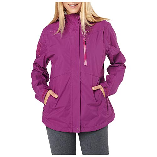 5.11 Tactical Women's Polyester Aurora Waterproof Shell Jacket L Mulberry #38077