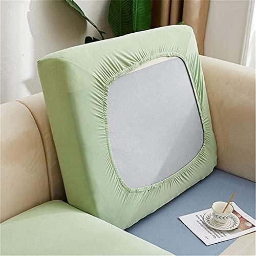 Funda de cojín de alta elasticidad para sofá, funda de cojín de tela de poliéster antideslizante, protector de muebles para cojines individuales (funda Chaise Longue, verde limón)