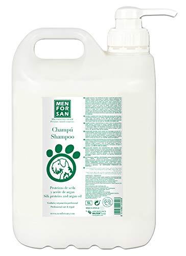 Menforsan 8414580013008 Shampoo Seidenproteine und Arganöl, 5000 ml