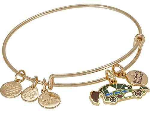 Alex and Ani Christmas Vacation A Griswold Christmas Bangle Bracelet Green One Size