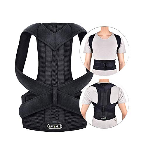 Back Brace Posture Corrector with Fully Adjustable Straps & Clavicle Support Device for Thoracic Kyphosis and Providing Pain Relief from Back Neck & Shoulder S