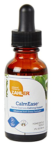 Zahler CalmEase, Natural STRESS Relief and CALM Supplement, Fast Acting ANXIETY Relief and Overall Mood Boosting Formula, Certified Kosher, 1oz