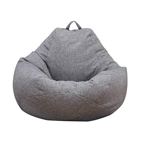 Puff Funda de Bean Bag, Diseño de Lino Simple Cubierta de Frijoles Funda de Puff para Adultos y niños sin Relleno,XL