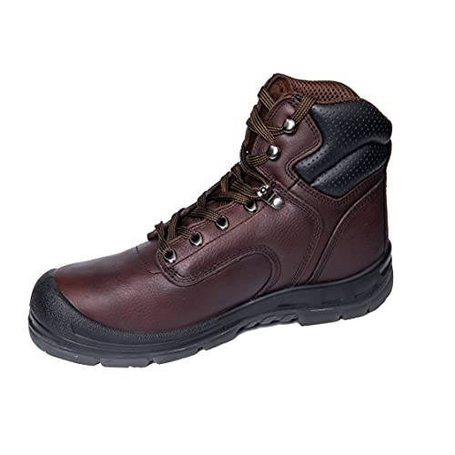 BOIWANMA Work Safety Boots for Men with Steel Toe