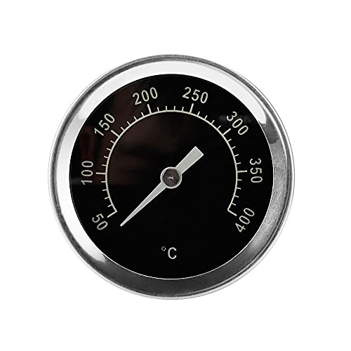 Gobesty Grill Thermometer, Grillthermometer Grillzubehör, BBQ Backofenthermometer, Ofenthermometer, Räucherthermometer für Alle Grills, Smoker, Räucherofen Und Grillwagen (Bis zu 400 °C)