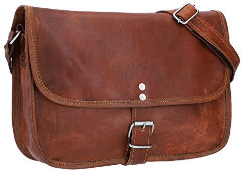 Gusti Nature sac à bandoulière - Mary L sac à main cuir femmes sac a bandouliere sac en cuir marron