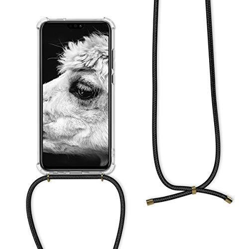 kwmobile Huawei Honor 8X Hülle - mit Kordel zum Umhängen - Silikon Handy Schutzhülle für Huawei Honor 8X - Transparent - 5