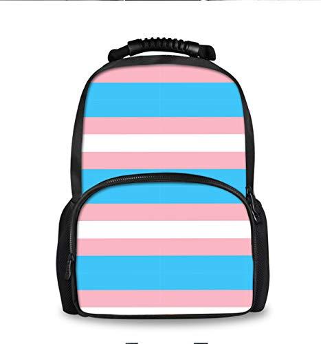 Lgbt Stripe Backpack, Laptop Notebook Bag for Men Women Daypack, College High School Student Book Bag, Lightweight Travel Bag