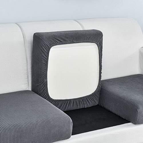 Urijk Sofa Sitzkissenbezug Couch-Kissenbezug Stretch Elastisch Jacquard Sofa Husse Husse Überzug Bezug Sitzbezüge Kissenbezüge für Sofa Sitzkissen(Dunkelgrau,Übergroßer 4 Sitzer)