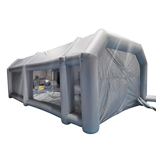 YOHIKOKIU Inflatable Tent 28x15x10Ft Inflatable Spray Booth Custom Tent Inflatable Paint Booth Tent Car Painting Booth Giant Workstation Oxford Fabric