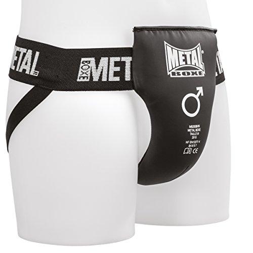 Metal Boxe Man Semi-Pro Guscio Nero, Conchiglia Protettiva Uomo, M