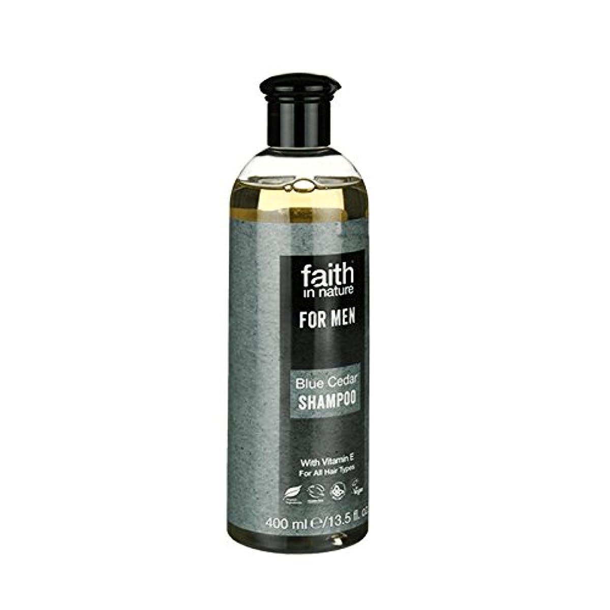 出口結び目脳Faith in Nature for Men Blue Cedar Shampoo 400ml (Pack of 2) - 男性青杉のシャンプー400ミリリットルのための自然の中で信仰 (x2) [並行輸入品]