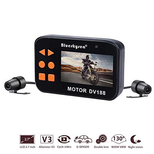 Hoeveelheid 88 video-recorder 1080p HD, 2,7 inch LCD-scherm met geïntegreerde G-sensor 130 graden nachtzicht eigenschappen dubbele lens