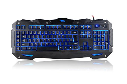 iMicro COBRA 110-Key LED Backlit USB Gaming Keyboard (IM-KBCOBV8)
