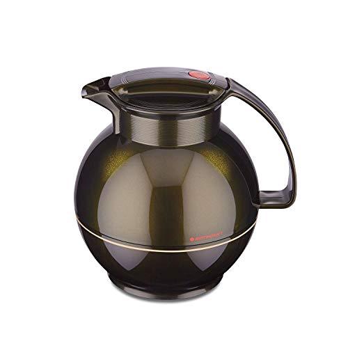 ROTPUNKT Isolierkanne 360 SISSY 1,0 l | Zweifunktions-Drehverschluss | BPA Frei- gesundes Trinken | Made in Germany | Warm + Kalthaltung | Glaseinsatz | black honey