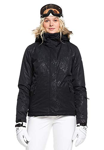 Roxy Damen Schneejacke Jet Ski - Schneejacke, true black arrow feel emboss, M, ERJTJ03206