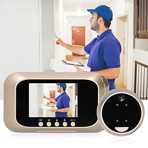 Visor de puerta digital, sistema multimedia integrado antirrobo Anti-mirones Práctico timbre visual de visión nocturna por infrarrojos LED 2IR 720P HD para seguridad en el hogar