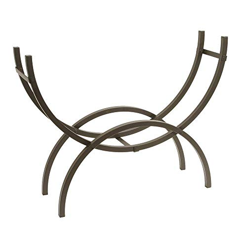 Best Buy! Crescent Tubular Steel Metal Firewood Log Storage Rack