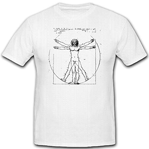 Schilderij beeldhuis Architect anatom monteur ingenieur natuurfilosoof Leonardo Da Vinci T-shirt #1447