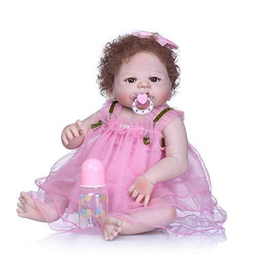 """WEHQ Rebirth Doll, Juguetes para niños Reborn 23""""de Cuerpo Completo de Vinilo de Silicona recién Nacido Reborn Baby Dolls de Aspecto Real Reborn Toddler Navidad"""