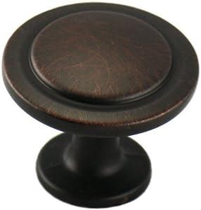 "Cosmas 5560ORB Oil Rubbed Bronze Cabinet Hardware Round Knob - 1-1/4"" Diameter, 10-Pack"