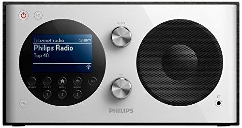 Philips AE8000 Internetradio mit DAB+ (WLAN, Digitaler UKW-Tuner, Kopfhöreranschluss) weiß