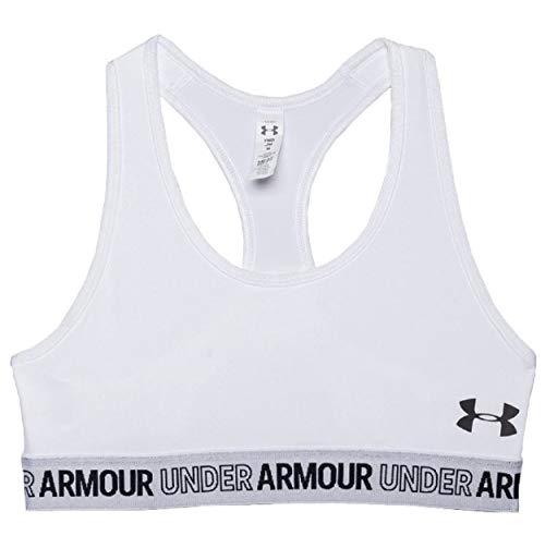 Under Armour Girl's MFO Solid HeatGear Sports Bra (Small) White