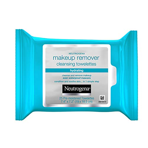 Neutrogena Hydrating Makeup Remover Face Wipes, Pre-Moistening Facial Cleansing Towelettes to Condition Skin &  Remove Dirt, Oil, Makeup &  Waterproof Mascara, Alcohol-Free, Value Pack 25 ct, 3 pack