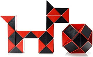 Cubelelo Shengshou Rubiks Snake Black and Red Puzzle Toy Cube