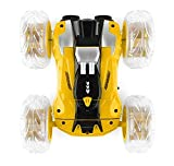 AIH Coche teledirigido , Nuevo RC Stunt Dancing Car,2.4 GHz Coche Acrobacia Rotación Volteo de 360 Grados, con Batería Recargable, Regalo para niños (Amarillo)