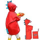Impermeable niño unisex capa de lluvia Ponchos chicos...