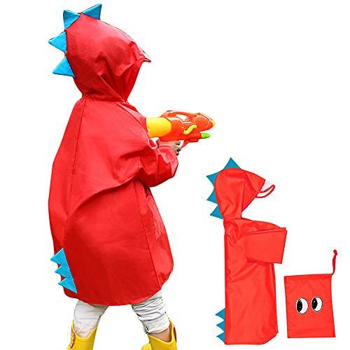 Impermeable niño unisex capa de lluvia Ponchos chicos niñas abrigo impermeable...
