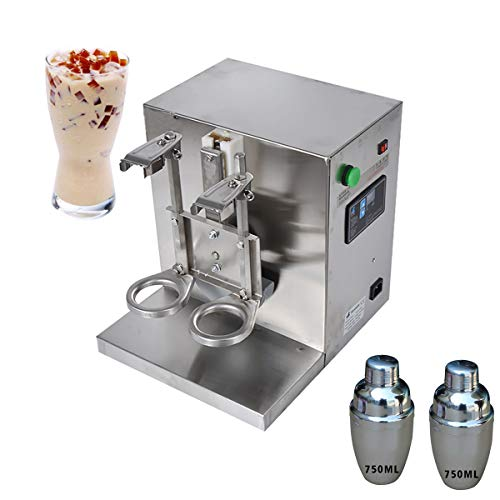 Lowest Price! Intbuying Bubble Boba Milk Tea Shaker Machine Stainless Steel Double-Cup Auto for Rest...