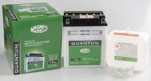 Magneti Marelli Specifico per il veicolo Batteria Moto Quantum14ah C/Acido Predosato 14ah