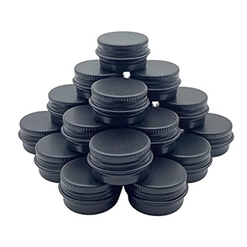 YANGYANG Allenzhang 100 stücke 5/10/15/30/50 / 60g Aluminiumdose, Kerzenglas, Creme Can, Conditioner, Augencreme Dose, Kosmetikbehälter (Color : Black, Size : 10g)