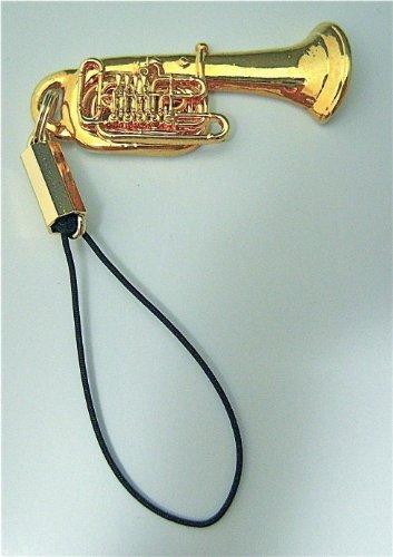ミラフォン チューバ 携帯ストラップ ゴールド Mirafone Tuba Cell Phone Strap
