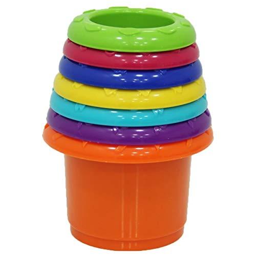 Little Hero – Stack N Nest Cups – 7 Pots Colorés à Empiler