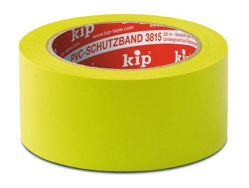 3 Rollen kip PVC-Schutzband 3818-15 quergerillt gelb 33 m x 50 mm