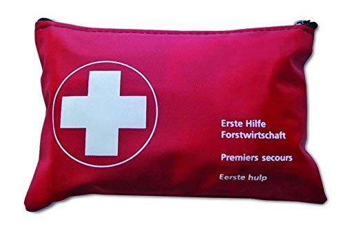 Waldarbeiter-Verbandtasche Rot Nylon gefüllt