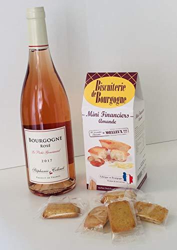 Cadeau Gourmand: Bourgogne rosé et Financiers
