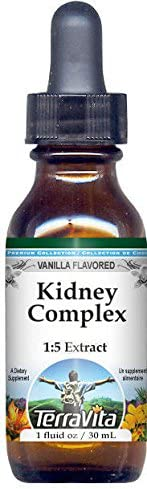 Kidney Complex Glycerite Liquid Extract Max 62% OFF Vanilla - 1:5 New product type Flavored