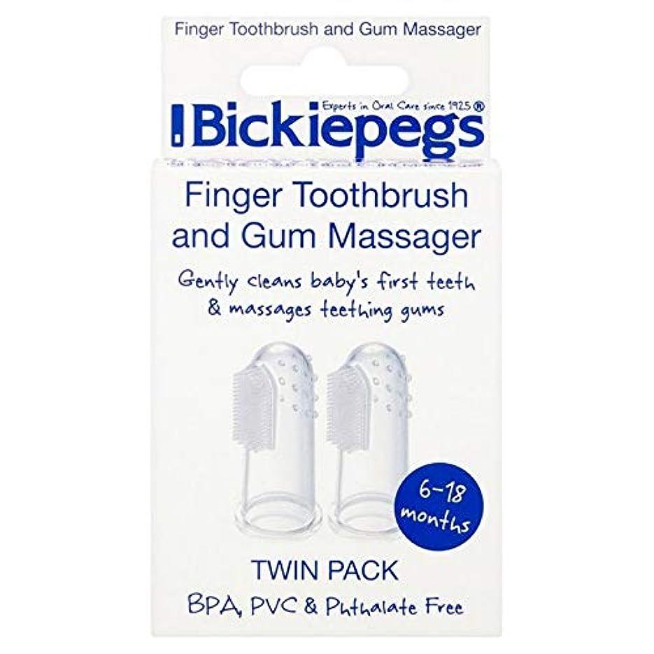 シャースタジオ縁[Bickiepegs] パックあたりBickiepegs指歯ブラシ&ガムマッサージ2 - Bickiepegs Finger Toothbrush & Gum Massager 2 per pack [並行輸入品]