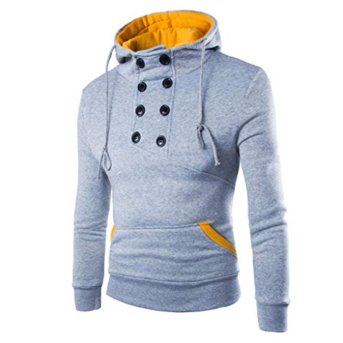 manadlian Sweat-Shirt à Capuche Hoodies Homme Veste Hoodies Mode 2019 Sweat Manches Longues Slim Fit Hauts en Poche et Bouton Tops Casual Sweatshirt